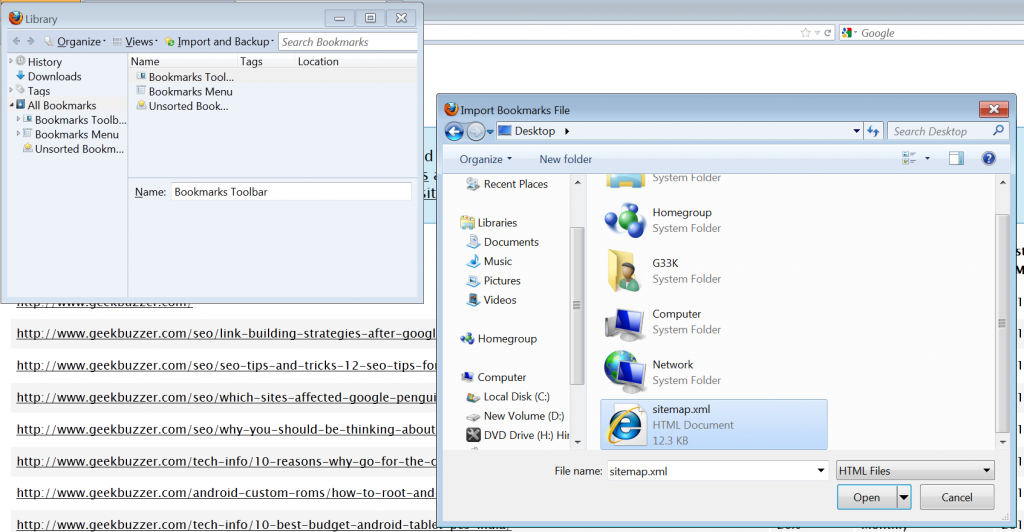 social-bookmarking-via-sitemap-import-firefox